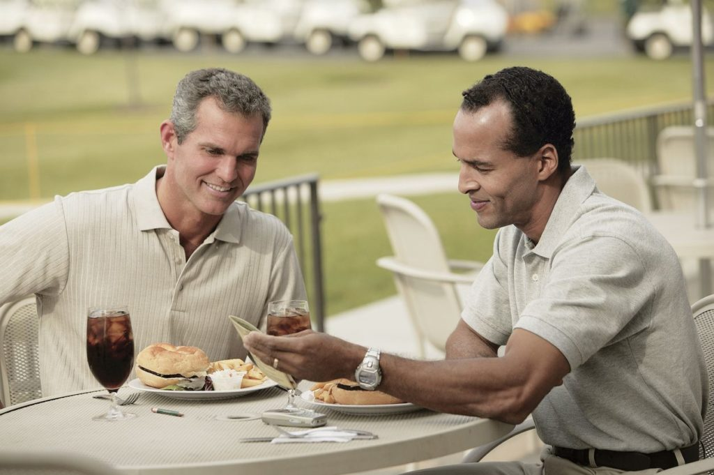 After the round of golf - eat well at the 19th hole