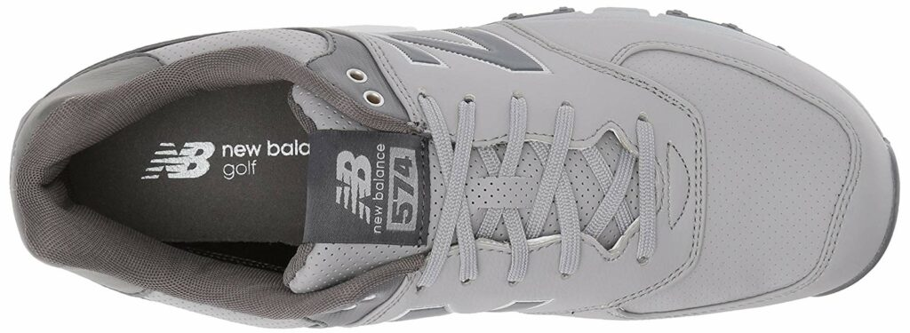 New balance 574 sl golf shoes available in grey leather