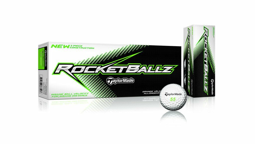 Taylor Made Rocket Ballz 3-Piece Distance & Control Soft Feel Golf Ball